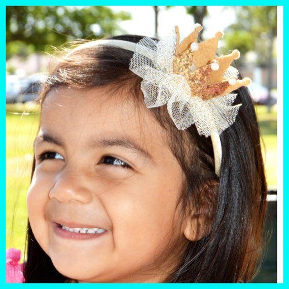 10 Princess Shimmer Tiara Crown  Pink and Gold by LITTLETREASURE4U