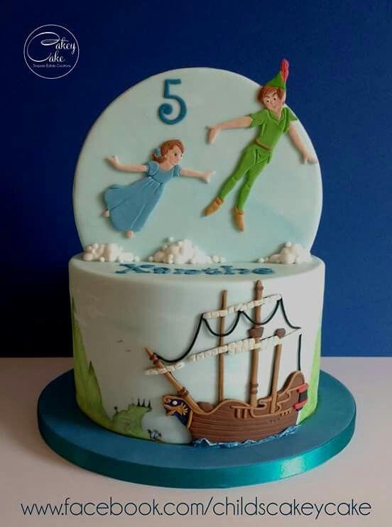 Sensational Stunning Peter Pan Cake Peter Pan Cakes Peter Pan Party Personalised Birthday Cards Paralily Jamesorg
