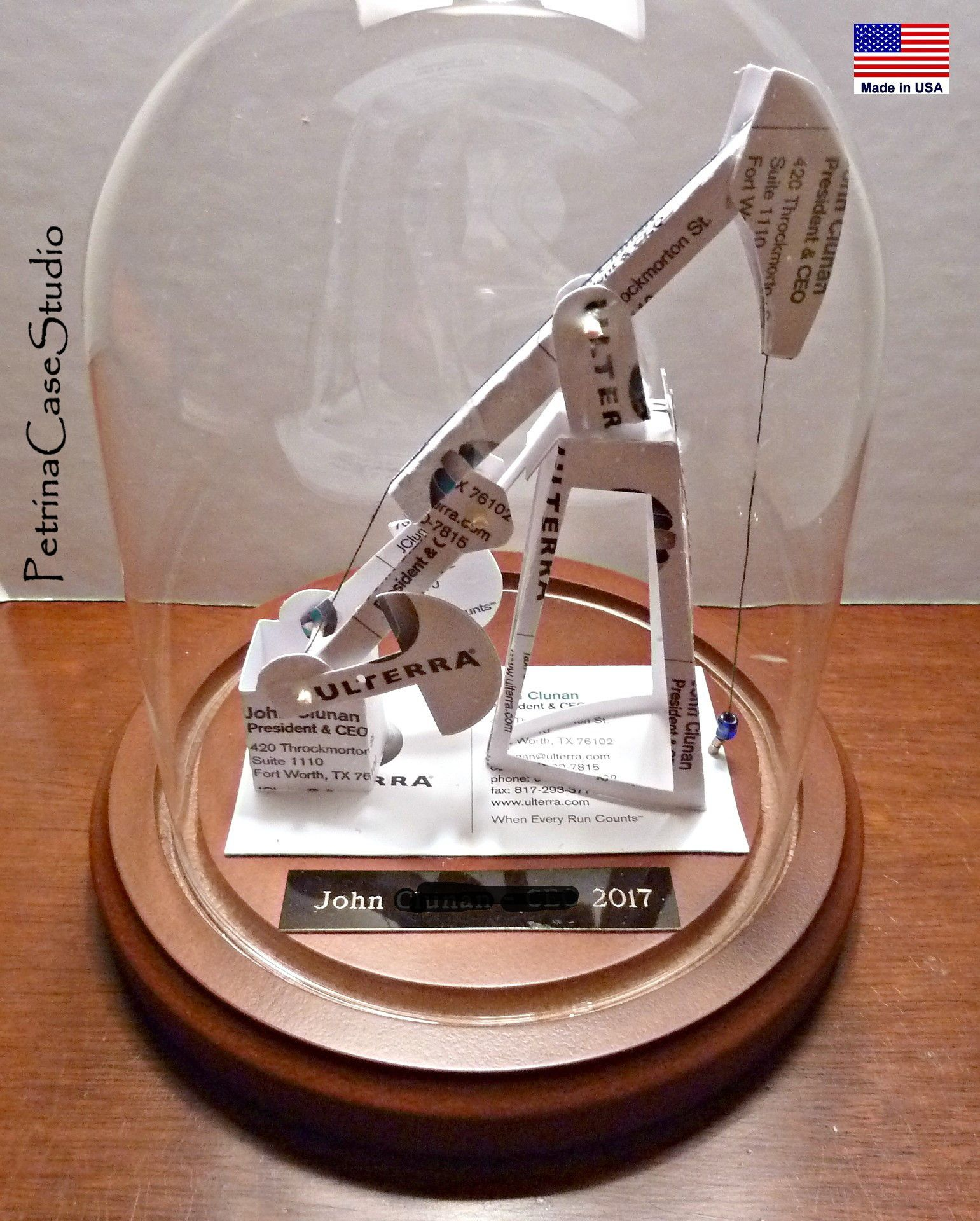 OIl Drilling Jack Pump Business Card Sculpture - Design by ...