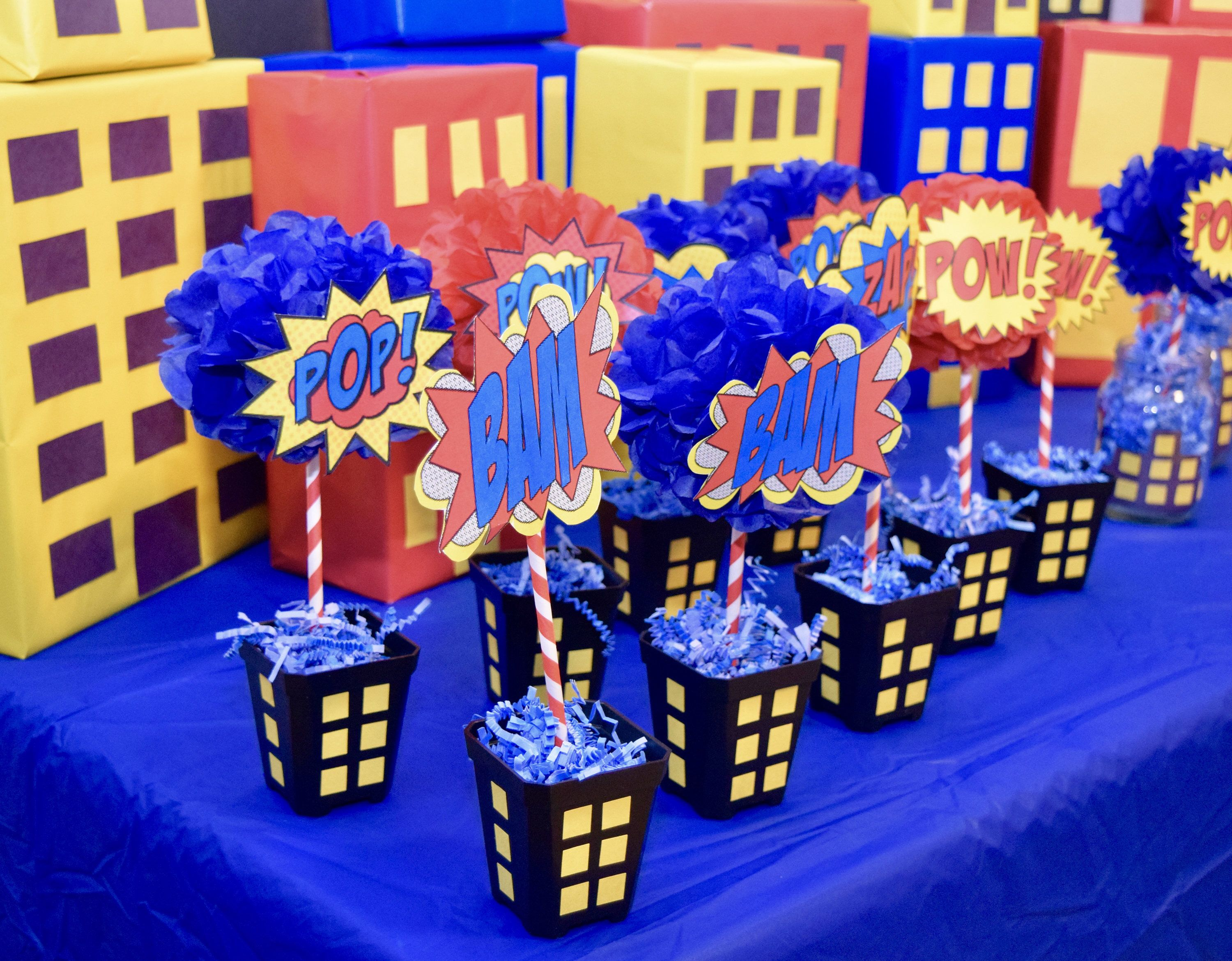 Boom Pow Save The World With Your Superhero Themed Party Decor