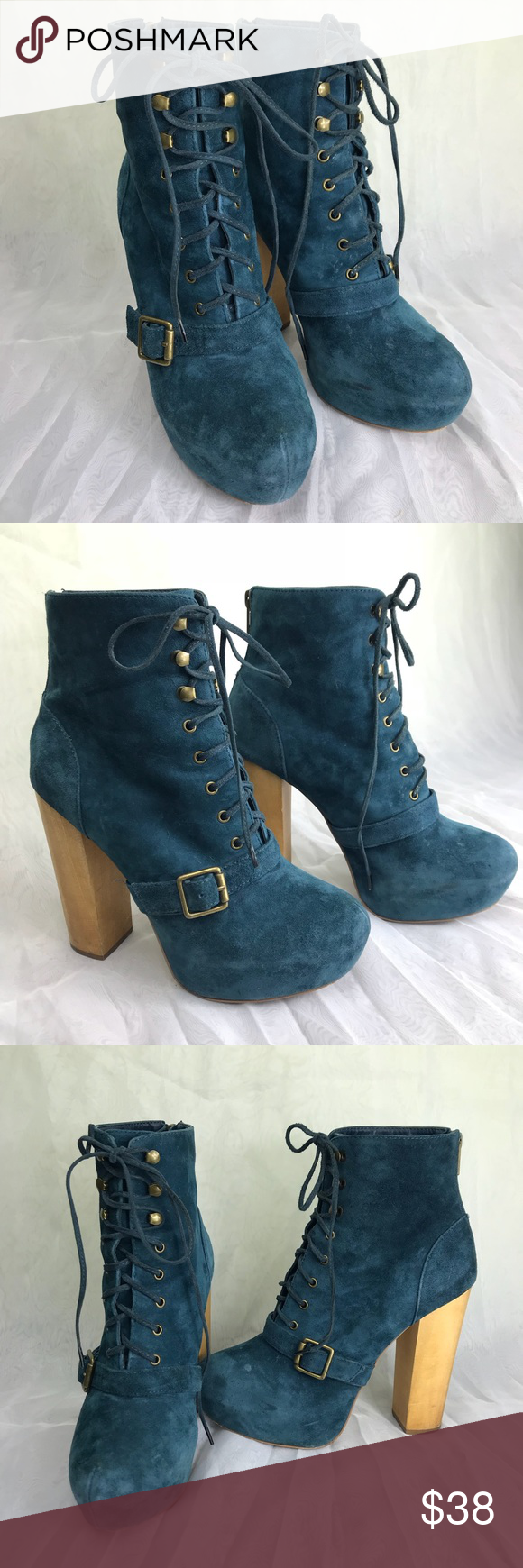 Steve Madden boot Carnaby blue suede
