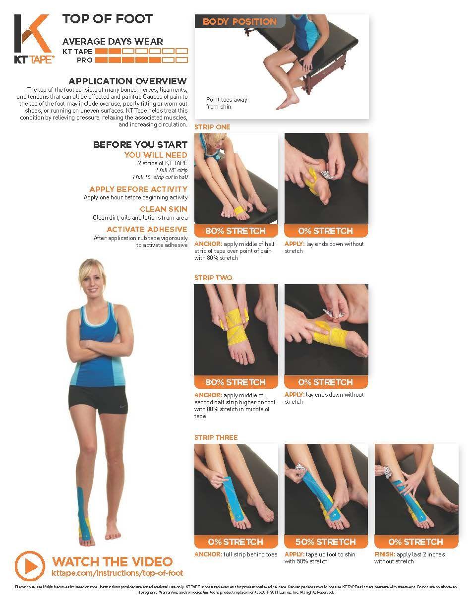 7f9fb2b0fb Printable Taping Instructions | Rehabilitación -Masaje... | Foot ...