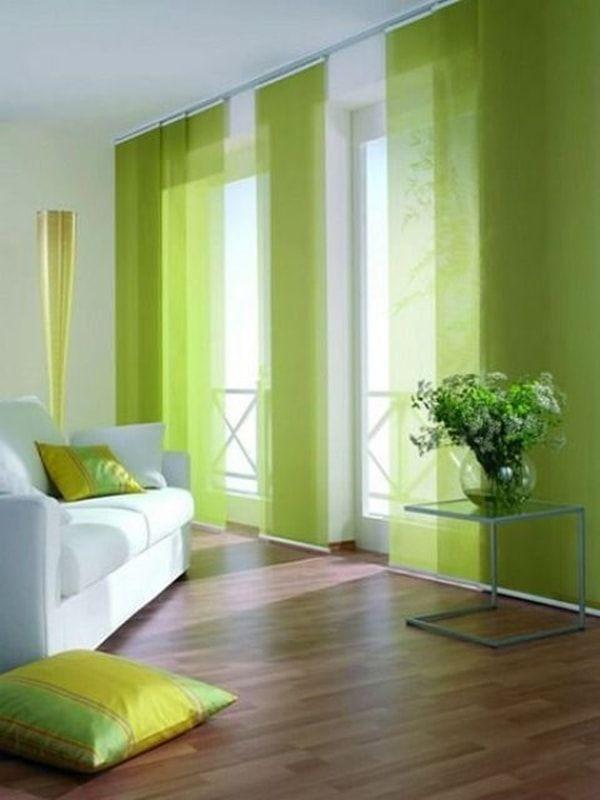 Diferentes tipos de cortinas Paneles japoneses, Panel y Verde