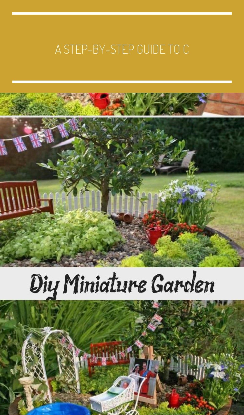 A Step By Step Guide To Create Your Own Miniature Fairy Garden We Created One In Honour Of The Birth Of Miniature Garden Miniature Fairy Gardens Fairy Garden