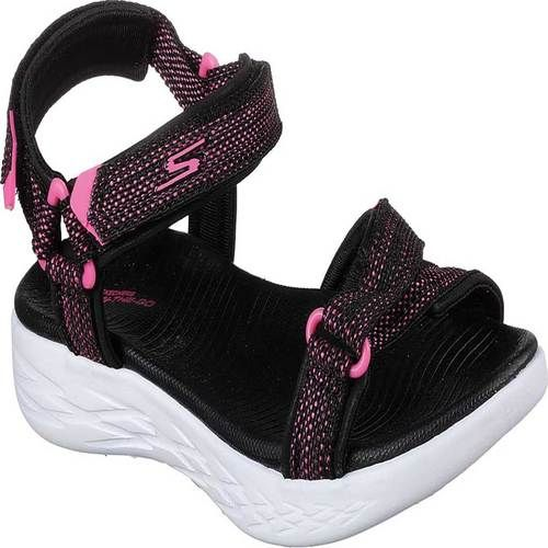 460ae3d4daa0 Girls  Skechers On the GO 600 Lil Radiance River Sandal - Black Hot Pink  Sandals