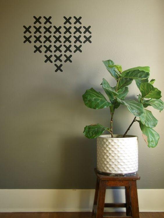 19 Ideas originales para decorar tus paredes con cinta adhesiva ...