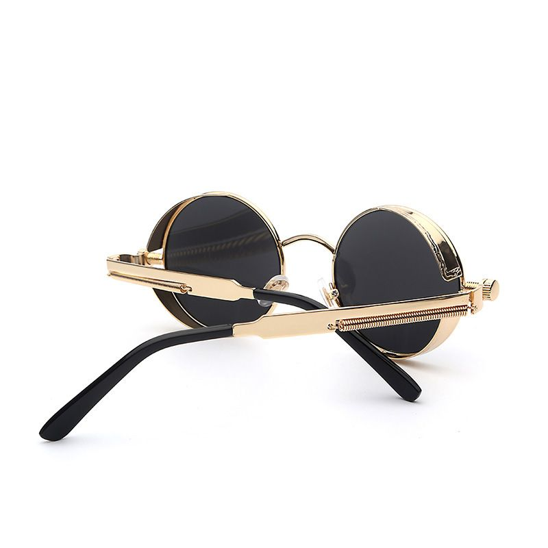 947b41a280 Gothic Steampunk Mens Sunglasses Coating Mirrored Sunglasses Round Circle  Sun glasses Retro Vintage Gafas Masculino Sol Isn`t it awesome