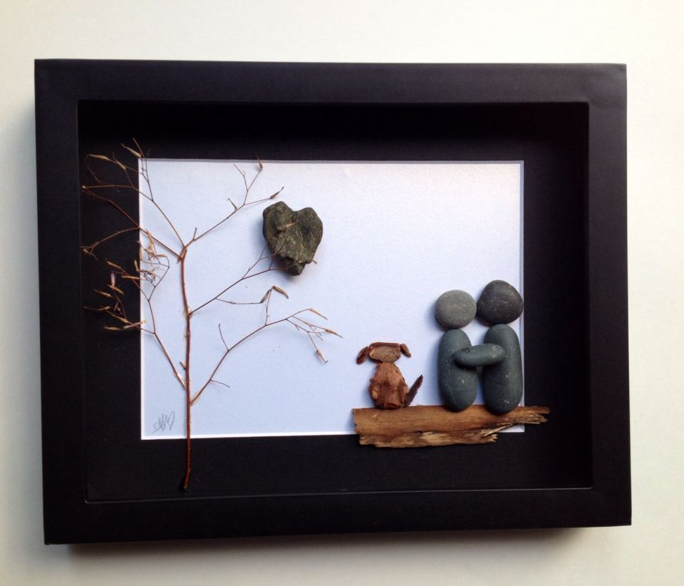 www.etsy.com/shop/SticksnStone for more gift ideas and unique home decor options. #sticksnstone #pebbleart #stoneart