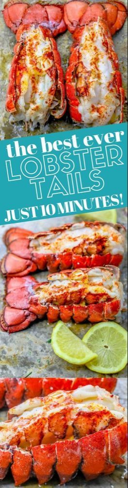 Perfect Oven Broiled Lobster Tails Recipe - Oven Baked Lobster Tails - This 10 Minute Perfect Broiled Lobster Tails Recipe is the quickest, tastiest, and easiest way to cook lobster tails - get perfect oven broiled lobster tails every time! The best way to cook lobster tail in the oven for a restaurant style buttery lobster tail dinner in under 10 minutes with no fishy taste or smell! #10minuteperfectbroiledlobstertailsrecipe #maindishes #popular #lobstertail Perfect Oven Broiled Lobster Tails R #lobstertail