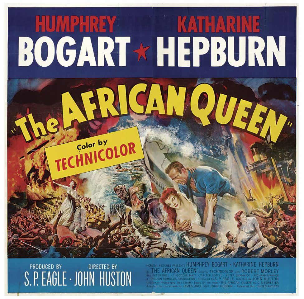 Image result for the african queen poster