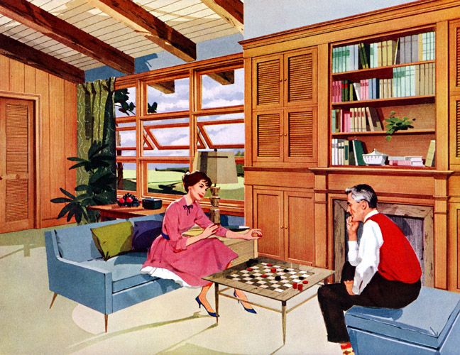 1950S Decor Glamorous Plan59  Retro 1940S 1950S Decor & Furniture  American Wood Inspiration Design