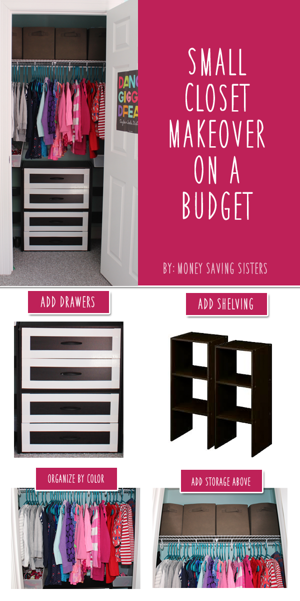 Kid S Room Small Closet Makeover On A Budget Closet Makeover Closet Transformation Small Closet
