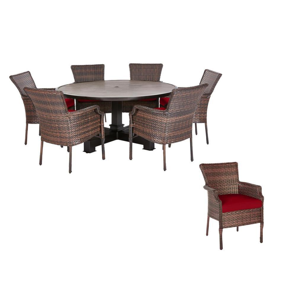 17+ Hampton bay oak heights 7 piece dining set Best Seller