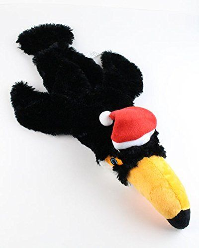 5c7eb4b2f52 Toucan Stuffingless Dog Toy with Santa Hat by Midlee     Want to know more