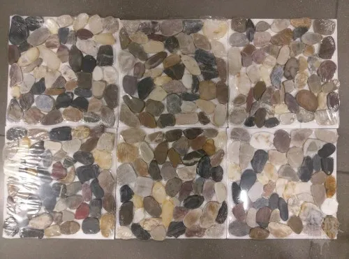 Is Flat Pebble Mosaic On The Shower Floor A Good Idea Consider This Just Needs Paint Shower Floor Pebble Mosaic Pebble Shower Floor