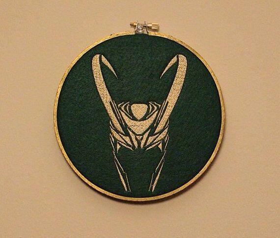 Loki Embroidery Hoop Art on Etsy, $15.00