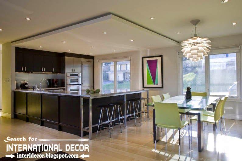 Largest Album Of Modern Kitchen Ceiling Designs Ideas Tiles Kitchen Ceiling Design Kitchen Lighting Design False Ceiling Design
