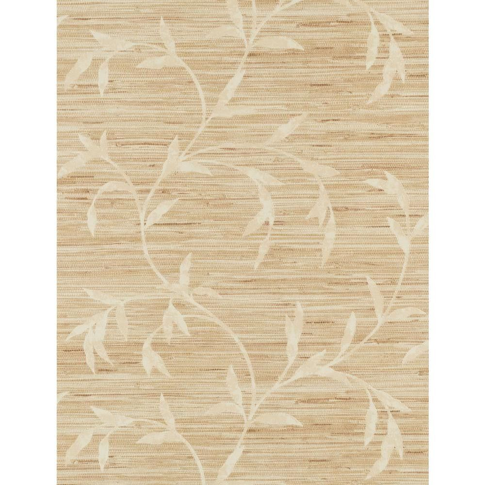 "Weathered Finishes Vine Scroll 33' x 20.8"" Botanical Wallpaper"