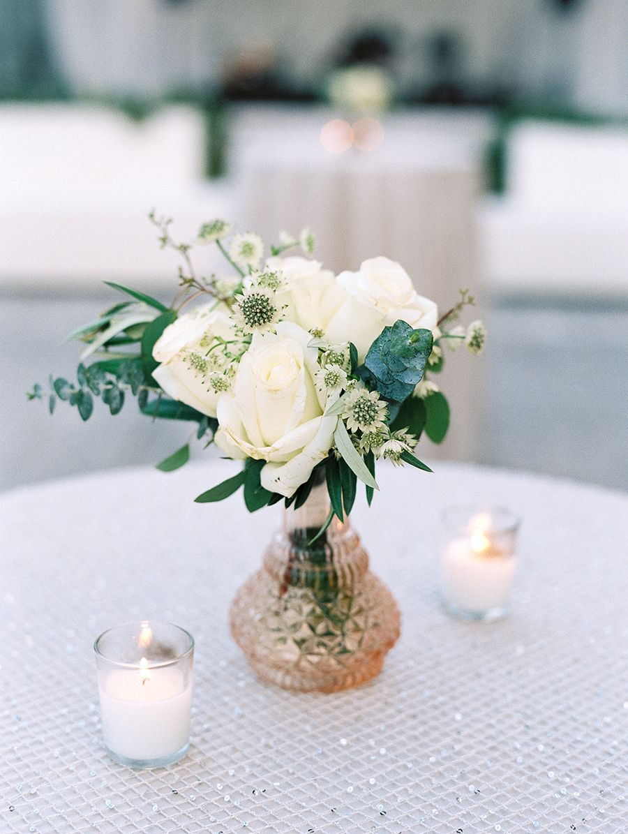 Diy wedding table decorations ideas  A Greenery Filled Wedding in Wine Country  Flower ideas DIY