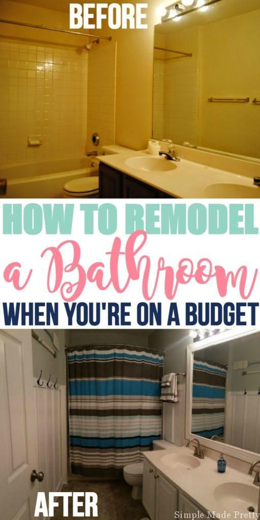 How To Remodel Your Bathroom On A Budget Budget Bathroom