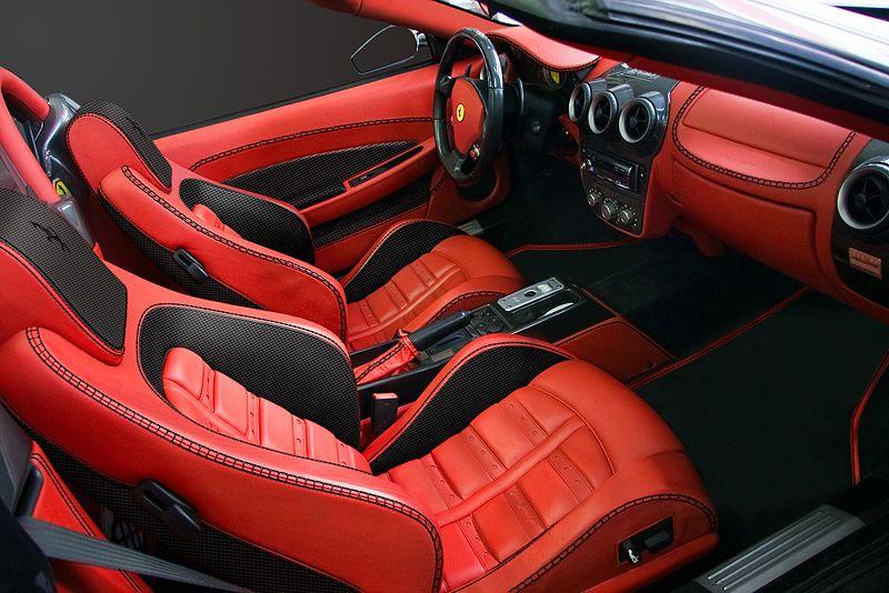 Ferrari 430 Spider Red And Black Interior Option 2 Dizajn
