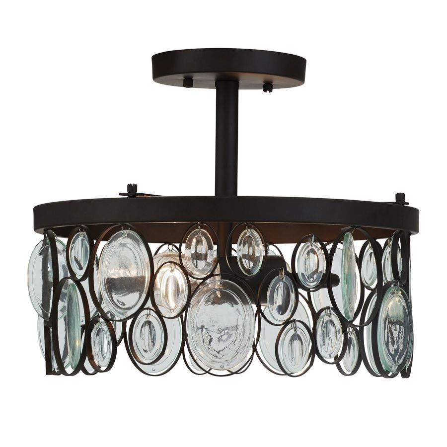 Allen roth grelyn 1268 in w aged bronze clear glass semi flush allen roth grelyn w aged bronze clear glass semi flush mount light very much like the one from potterybarn that i have in the kitchen arubaitofo Choice Image
