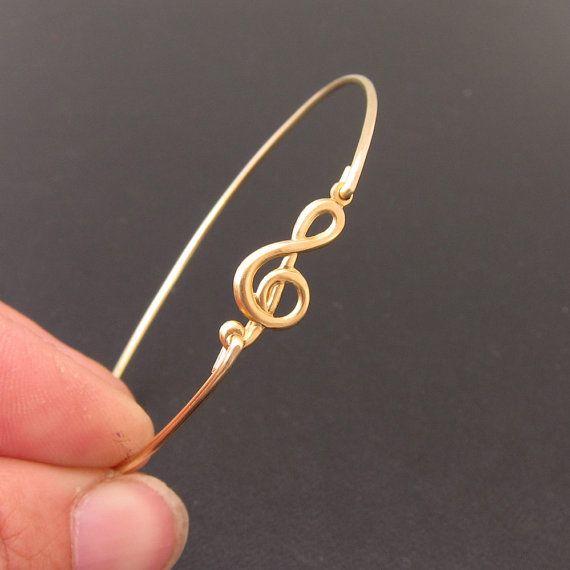 Bracelet Copper Treble Clef 6