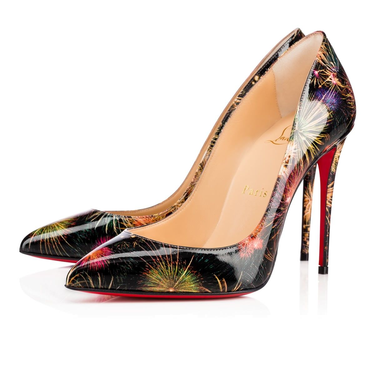 cb91379c7b3 CHRISTIAN LOUBOUTIN Pigalle Follies Patent Fireworks 100 Multicolor ...