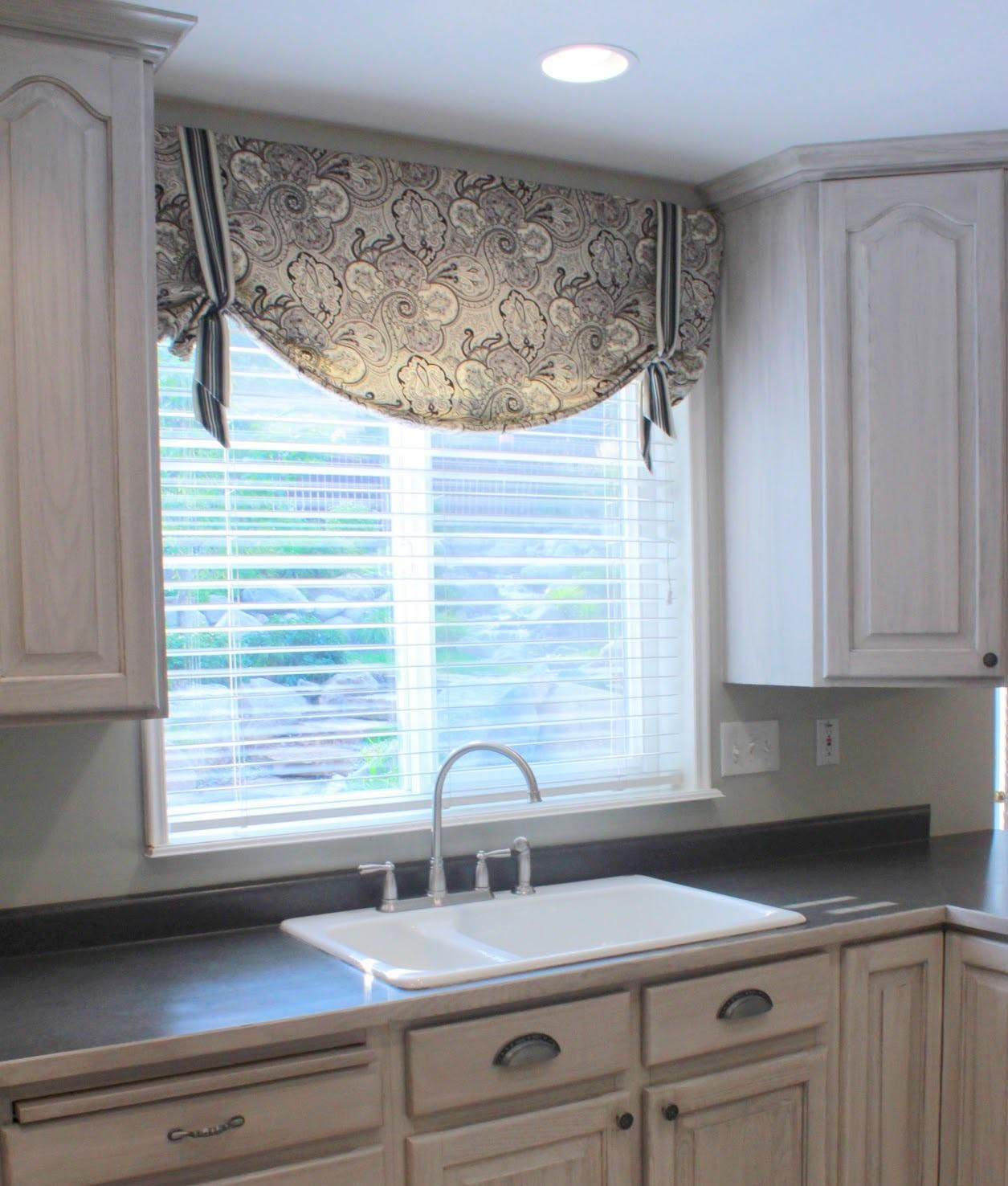 Valances Black Kitchen Curtains And Valances Window Treatments .