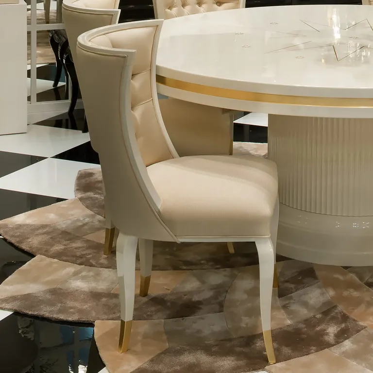 High End Modern Cream And White Chair Traditional living