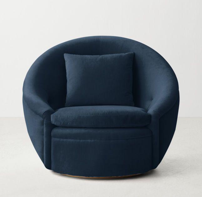 Oberon Velvet Swivel Chair Rhteen Swivel Chair Chair Upholstered Swivel Chairs