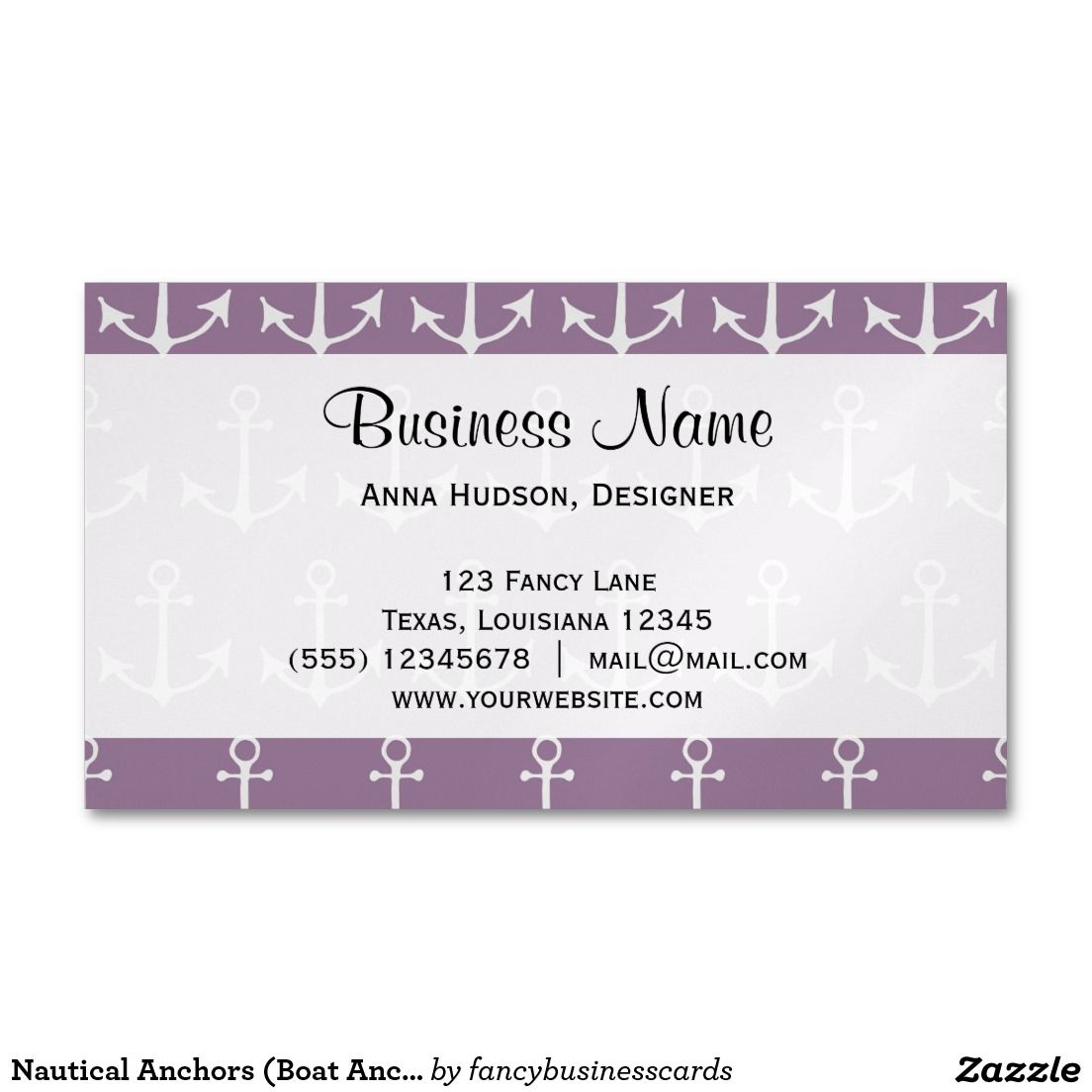 Nautical Anchors (Boat Anchors) - Purple Gray Magnetic Business ...