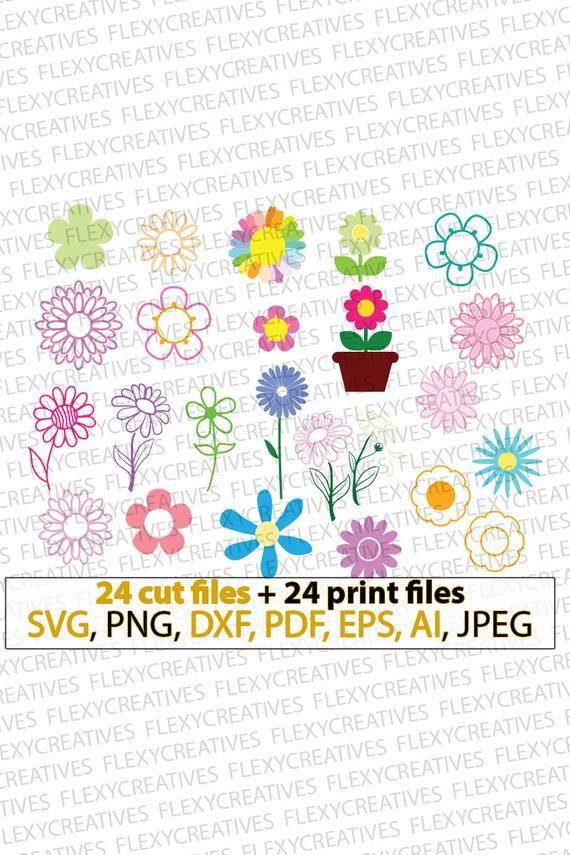 Daisy svg, daisy flower, flower svg, floral svg, garden svg