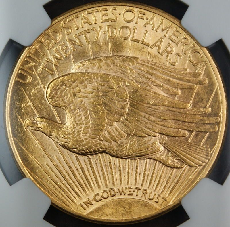 Antiques Us: **1921** St. Gaudens Gold $ 20 Double Eagle, NGC MS-61