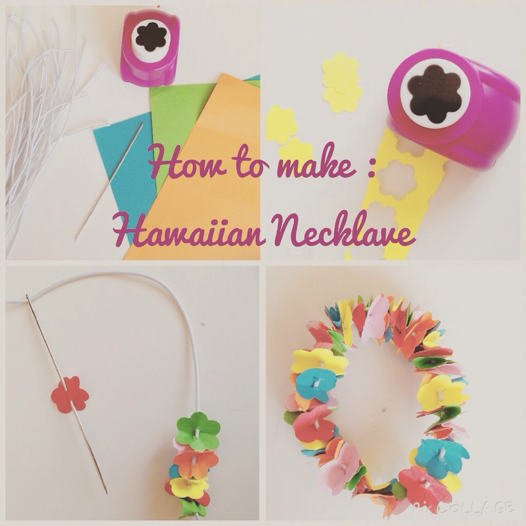 Make and very easy hawaiian flower necklace luau pinterest make and very easy hawaiian flower necklace izmirmasajfo
