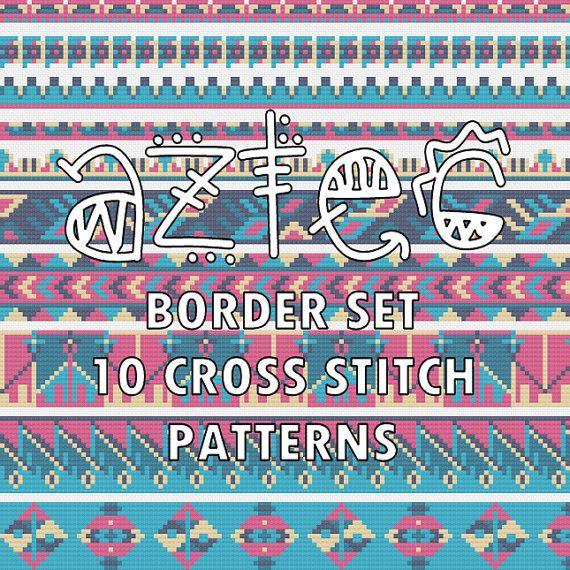 Trim Stitching Chart Instant Download Modern Ethnic by Stitchonomy