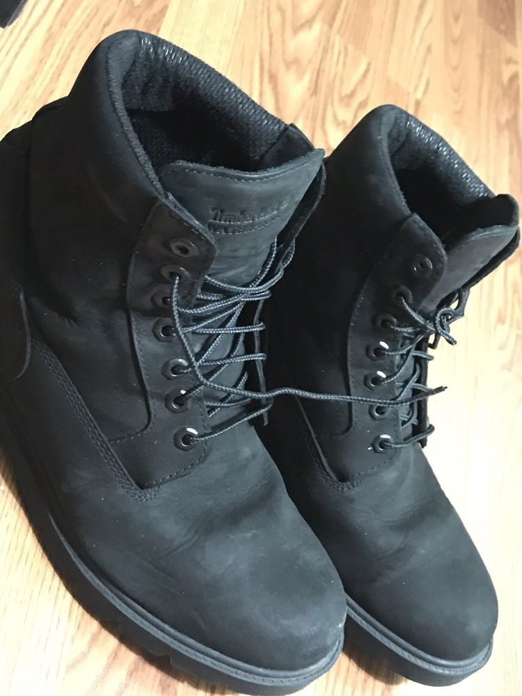 MEN'S TIMBERLAND 6 INCH FIELD BOOTS Black Size 10.5 #fashion