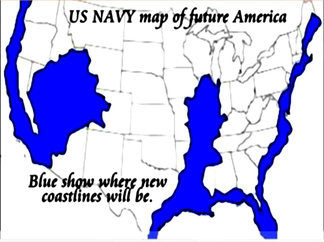 Agenda 21 US Navyfuture map East West Coast Madrid Fault line