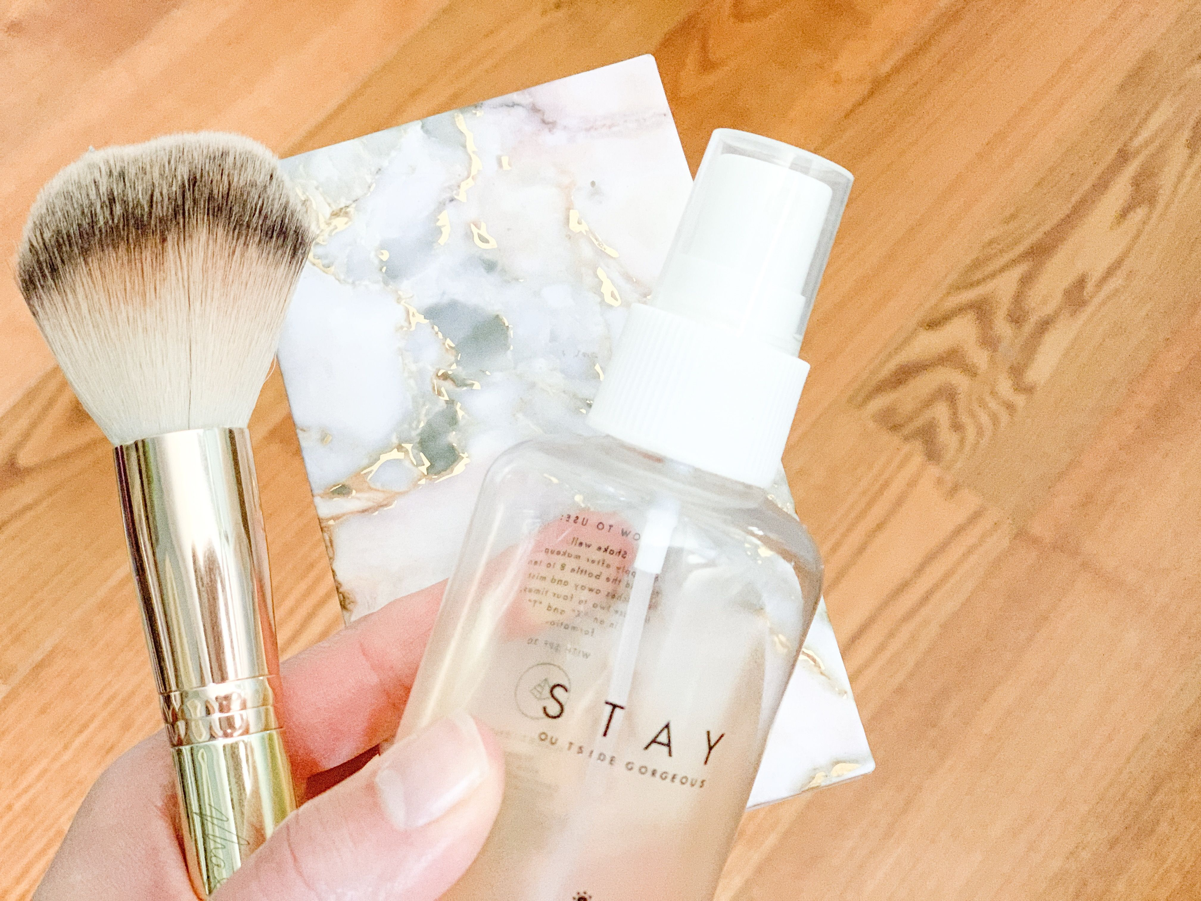 Here S A Barely There Makeup Look For Those Summer Days At The Pool Beach Or Lake When You Don T Want To Wea Barely There Makeup Maskcara Beauty Makeup Spray