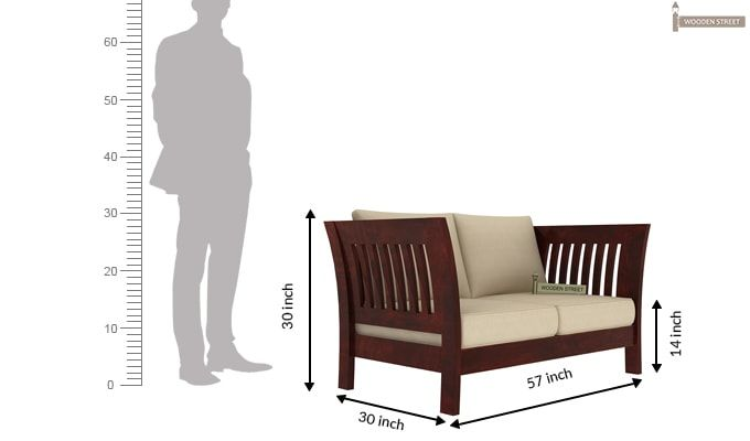 2 Seater Wooden Sofa Designs Furniture Wood Sofa