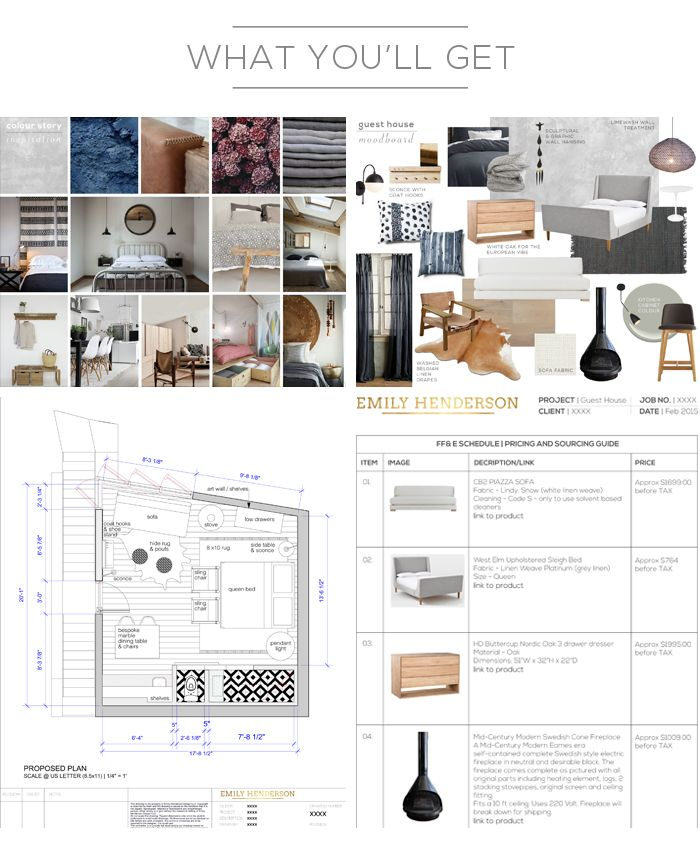 Our E Design Service Giveaway Emily Henderson Interior Design Presentation Interior Design Presentation Boards Interior Presentation