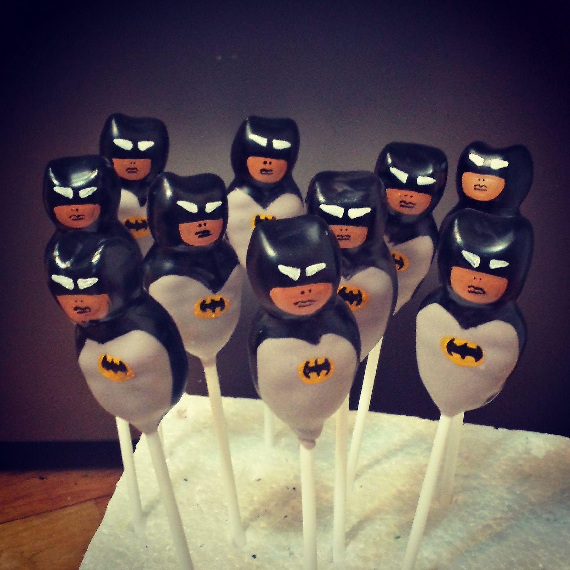 Batman cake pops delish cake pops batman cake pops