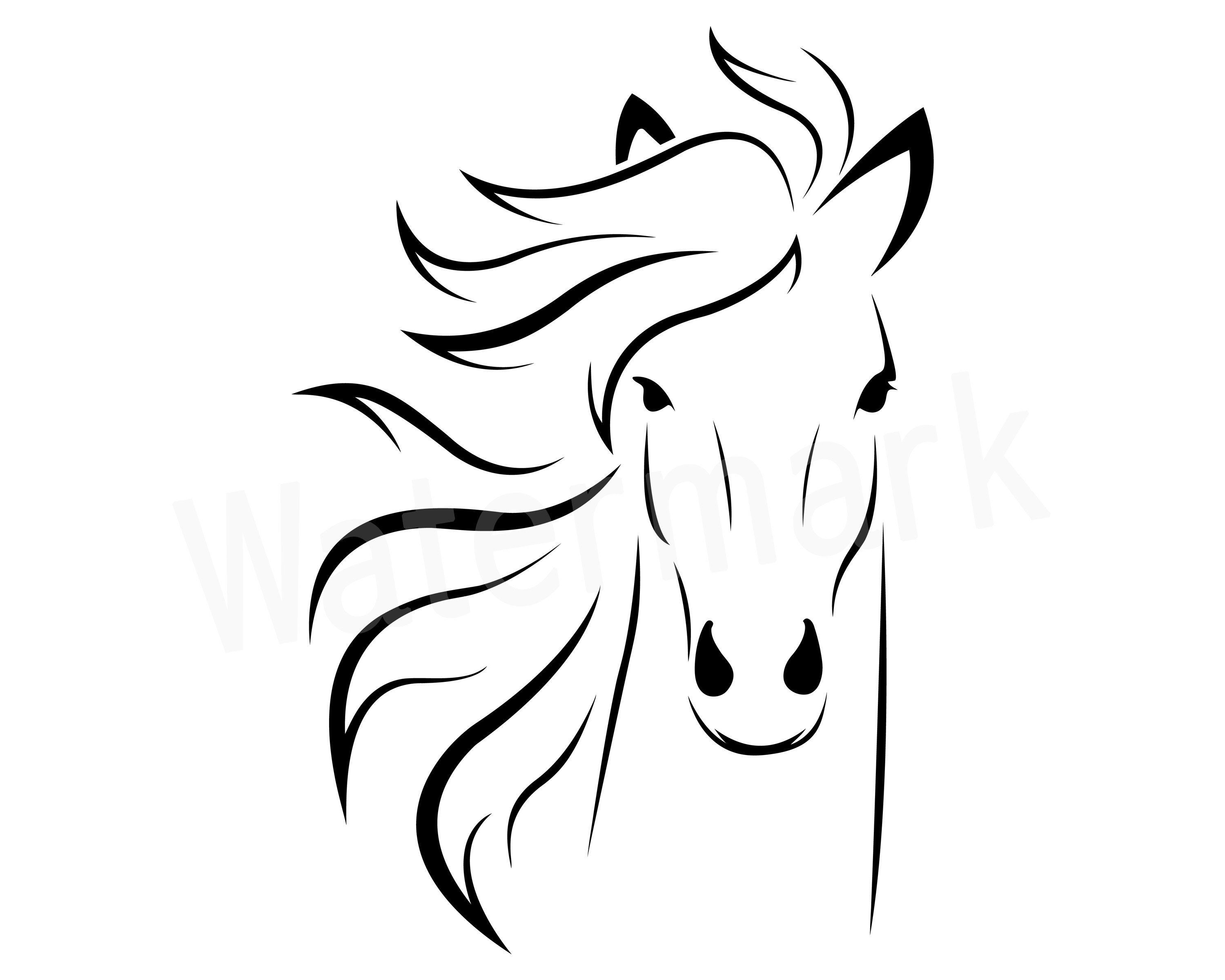 Horse head. Svg pony vector decal
