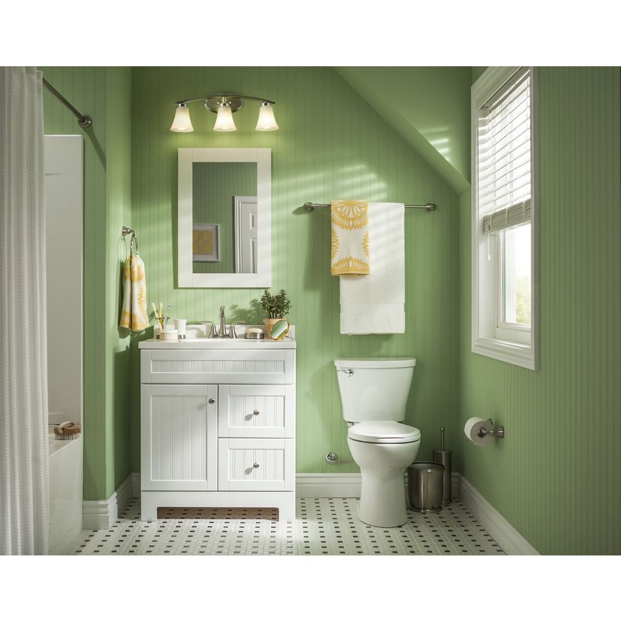 Portfolio 3 Light Lyndsay Brushed Nickel Bathroom Vanity - Bathroom ...