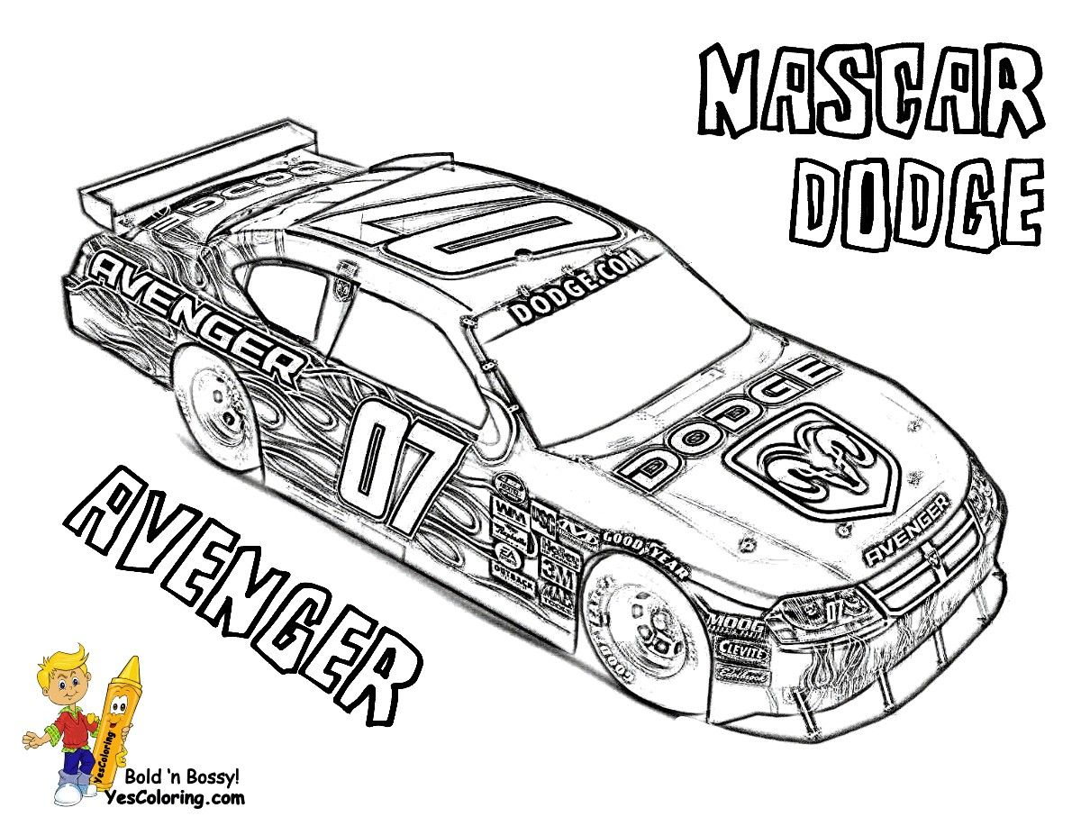 Get This Nascar Coloring Pages to Print for Kids 05672 ! | 927x1200