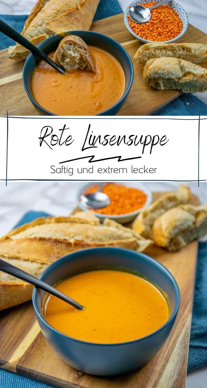 Diese Rote Linsen Suppe ist der Knaller – mit Kokosmilch, Paprika & Curry