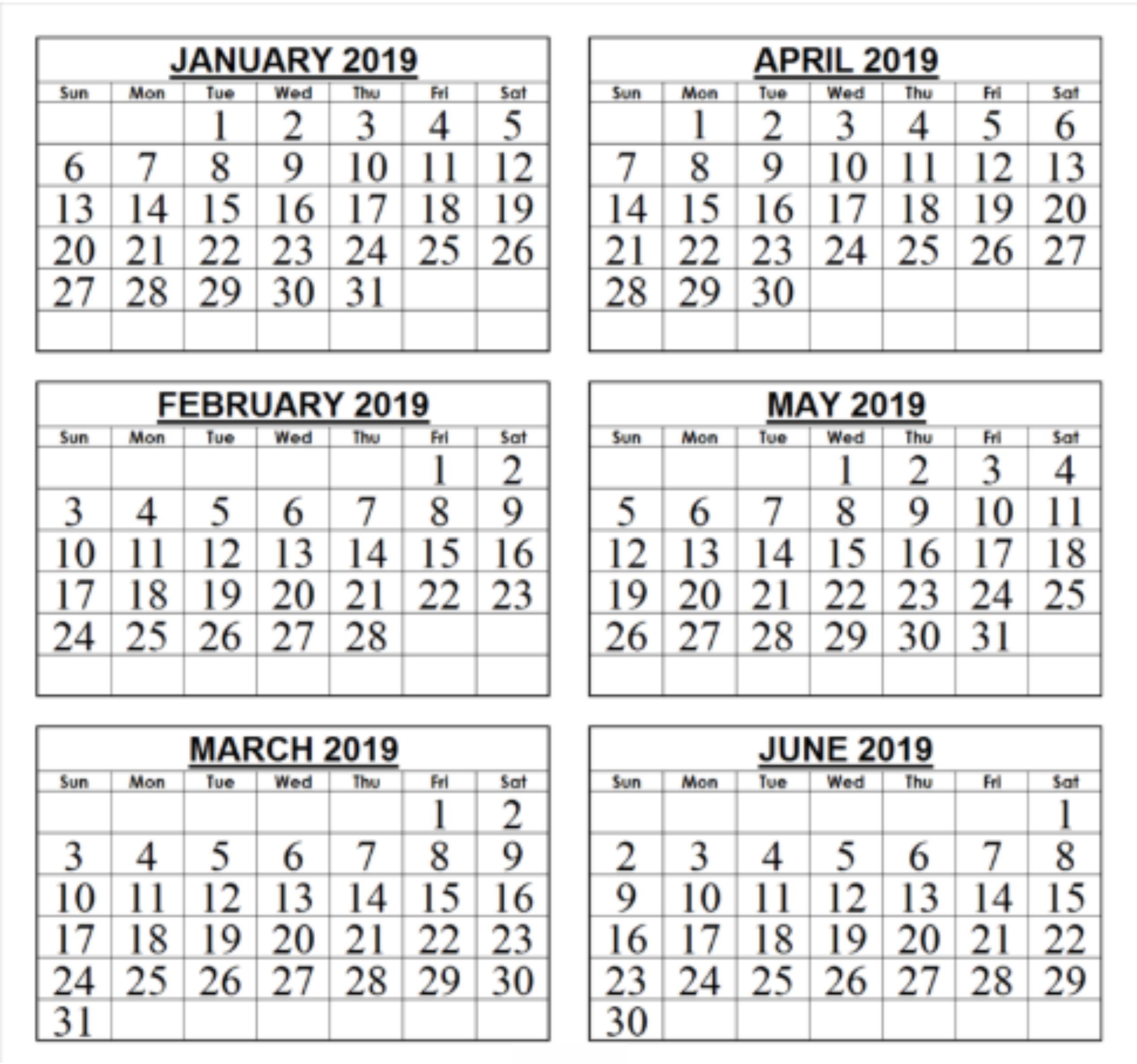 Take 2019 Printable Calendar By Monthjune Calendar June