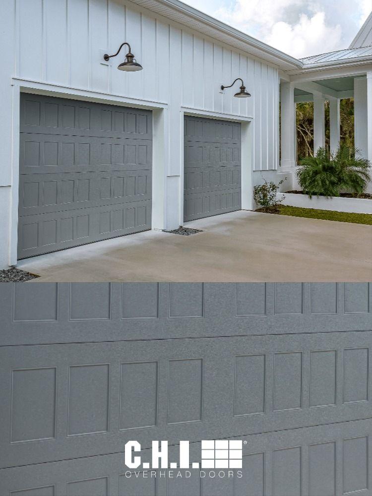 New Modern Industrial Graphite Garage Doors In Stamped Shaker Model In 2020 Garage Doors Modern Industrial Overhead Door