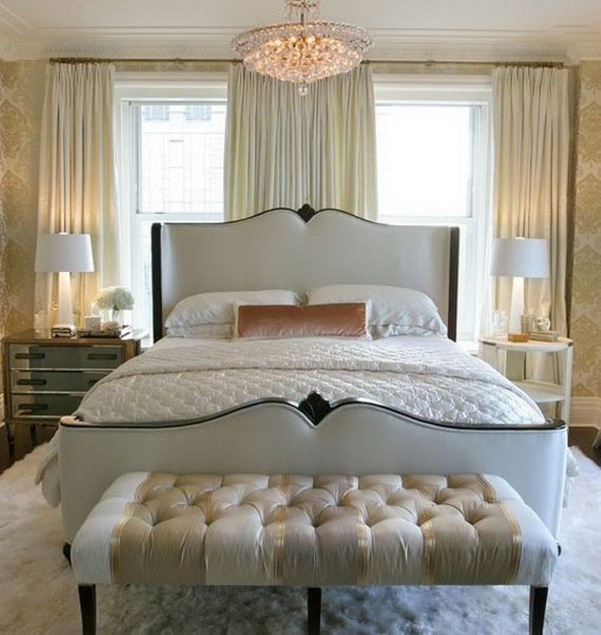 Latest Bedroom Colors 2015 Elegant Master Bedroom Decor Mirror On Bedroom Ceiling Blue Bedroom For Boys: Elegant Bedroom Decorating Ideas