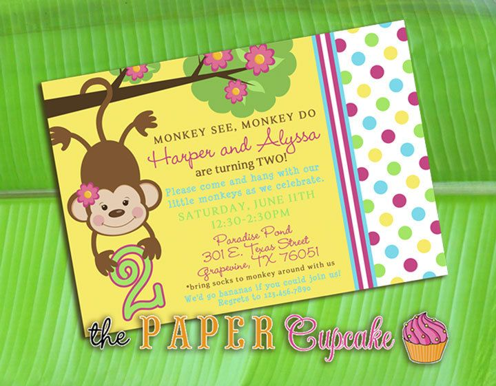 do it yourself monkey birthday invitations – How to Do Birthday Invitations